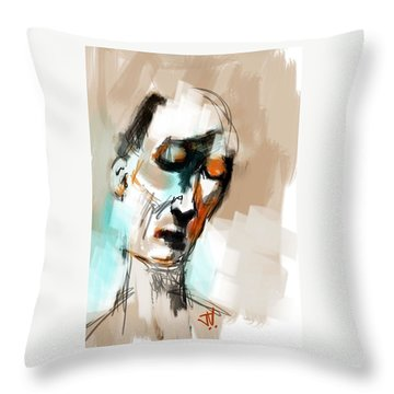 Untitled Portrait Throw Pillow