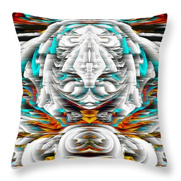 Throw Pillow featuring the digital art 992.042212mirrorornategoldvert-2-c by Kris Haas