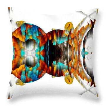 Throw Pillow featuring the digital art Untitled Series 992.042212 -b by Kris Haas