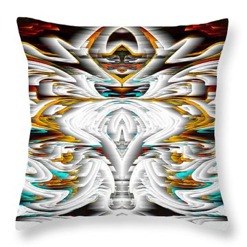Throw Pillow featuring the digital art Untitled Series 992.042212 by Kris Haas