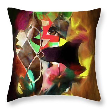 Untitled Work No. 3 Throw Pillow by James Bethanis