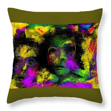 Throw Pillow featuring the digital art Untitled2 06june2015 by Jim Vance