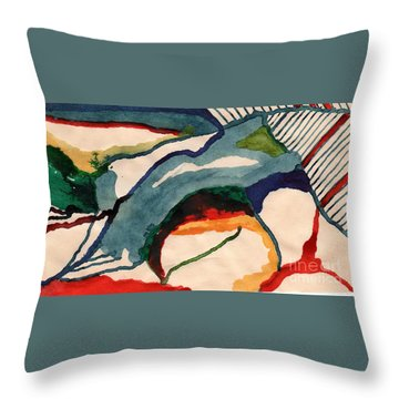 Throw Pillow featuring the drawing Untitledabstract by Rod Ismay