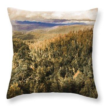 Untouched Wild Wilderness Throw Pillow