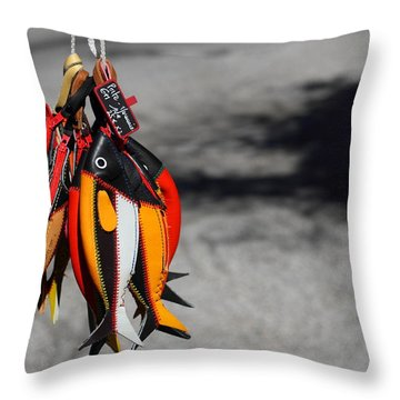 Throw Pillow featuring the photograph Unusual Catch by Richard Patmore