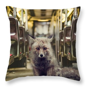 Unwelcome Rider Throw Pillow by James Bethanis