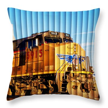 Up 5915 At Track Speed Throw Pillow