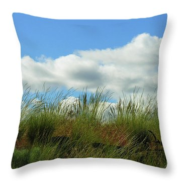 Up A Hill Throw Pillow by Bonnie Bruno