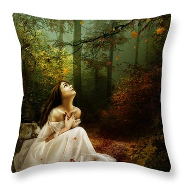 Up Above Where Non Can See Throw Pillow by Mary Hood
