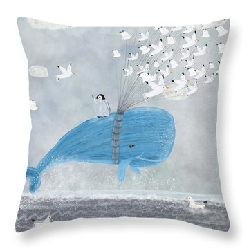 Up And Up Throw Pillow