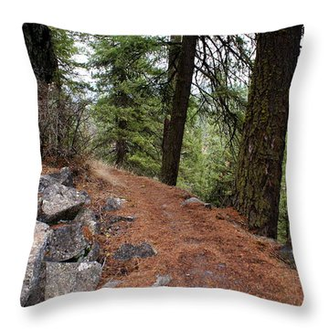 Throw Pillow featuring the photograph Up Around The Bend... by Ben Upham III