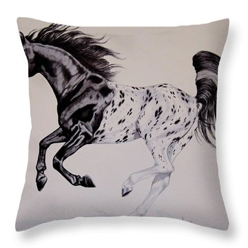Up Close And Personal With Appaloosa's Throw Pillow