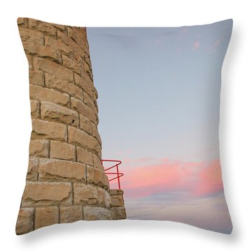Close-up Detail Of The Cape Moreton Lighthouse Throw Pillow
