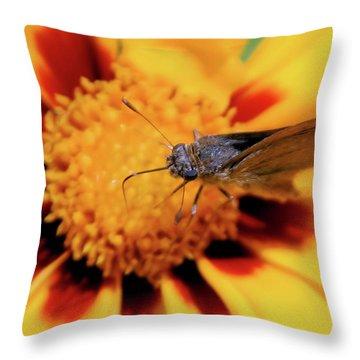 Up Close Throw Pillow by Karol Livote