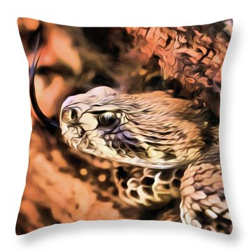 Up Close With An Atrox Throw Pillow