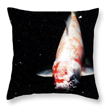 Throw Pillow featuring the photograph Up For Air by Deborah  Crew-Johnson