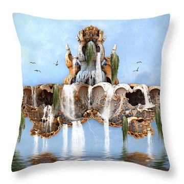 Up From The Deep Throw Pillow