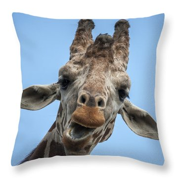Up Here Throw Pillow