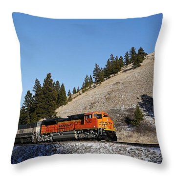Up Hill And Into The Sun Throw Pillow