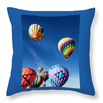 Throw Pillow featuring the photograph Up In A Hot Air Balloon 2 by James Sage