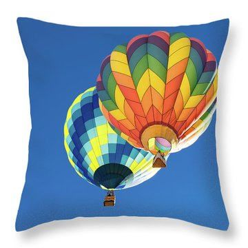 Throw Pillow featuring the photograph Up In A Hot Air Balloon by James Sage