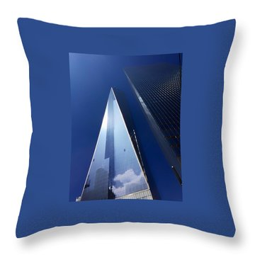 Up In New York Throw Pillow