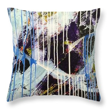Throw Pillow featuring the painting Up In The Air by Sheila Mcdonald