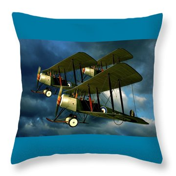 Up In The Air Throw Pillow by Steven Agius