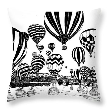 Up In The Air Throw Pillow by Vicki  Housel