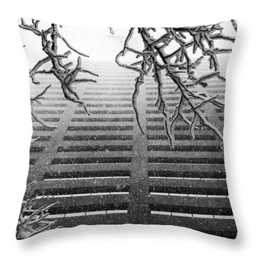 Up In The Snow Throw Pillow