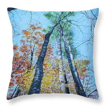 Up Into The Trees Throw Pillow