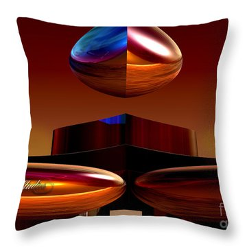 Up On A Pedestal Throw Pillow