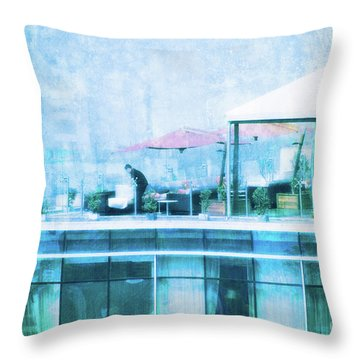 Throw Pillow featuring the digital art Up On The Roof - II by Mary Machare