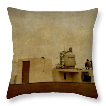 Up On The Roof Throw Pillow