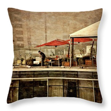 Throw Pillow featuring the photograph Up On The Roof - Miraflores Peru by Mary Machare