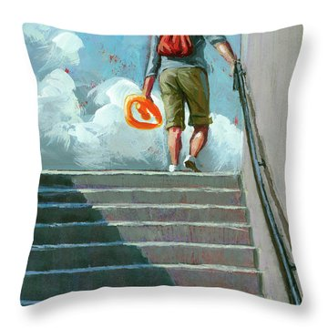 Up Stairs Throw Pillow