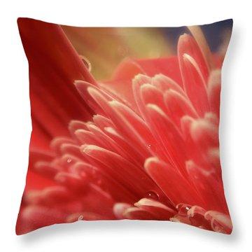 Up Tangerine Throw Pillow