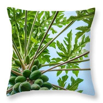 Up The Papaya Throw Pillow