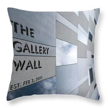 Throw Pillow featuring the photograph Up The Wall-the Gallery Wall Logo by Wendy Wilton