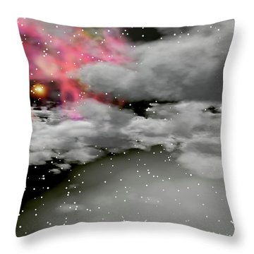 Up Through The Clouds Throw Pillow by Michele Wilson