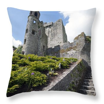 Up To Blarney Castle Throw Pillow