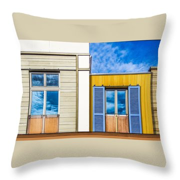 Throw Pillow featuring the photograph Up Town by Paul Wear