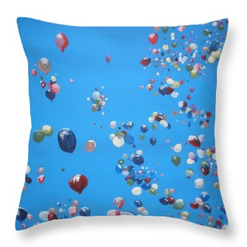 Up Up And Away Throw Pillow by Betty-Anne McDonald