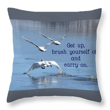 Up, Up And Away Carry On Throw Pillow by DeeLon Merritt