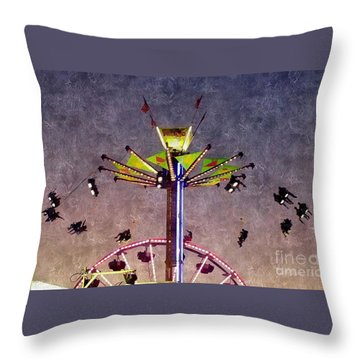 Up, Up And Away  Throw Pillow by Christy Ricafrente