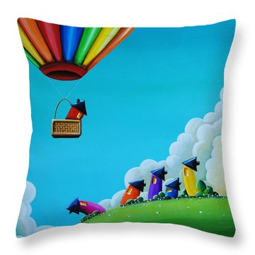 Up Up And Away Throw Pillow by Cindy Thornton