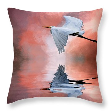 Up. Up And Away Throw Pillow by Cyndy Doty
