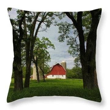 Throw Pillow featuring the photograph Up Yonder by Viviana  Nadowski