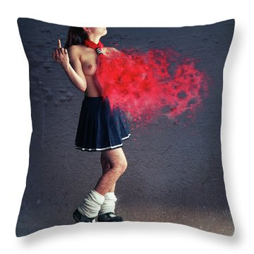Up Yours Throw Pillow