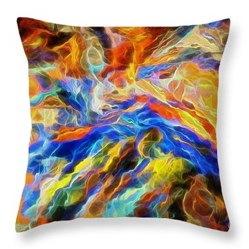 updated Our God is a Consuming Fire Throw Pillow